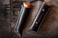 Opinel No.8 Jasper Folding Knife Sheath by natemadegoods on Etsy