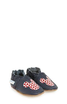 Robeez® 'Disney® Geo Mickey Mouse®' Slip-On Crib Shoe (Baby & Walker) available at #Nordstrom