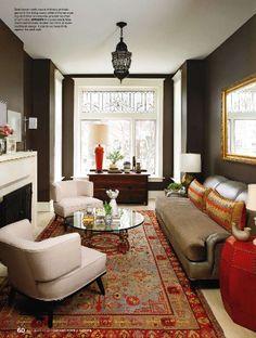 dark walls. living room.