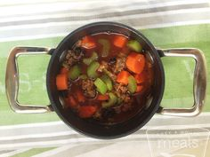 Hearty Paleo Beef Vegetable Soup | OAMC from Once A Month Meals