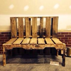 3 x #Upcycled Pallet Bench from our friends on Instagram