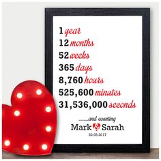 Details about Wedding Personalised Anniversary Gifts First Wedding Anniversary Presents Personal 1st Anniversary Gifts For Him, Wedding Anniversary Presents, Personalized Anniversary Gifts, Boyfriend Anniversary Gifts, Paper Anniversary, 1st Wedding Anniversary Gift For Him, Boyfriend Birthday, Party Favors, Ebay