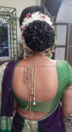Lobster Restaurant, Indian Flowers, Indian Wedding Hairstyles, Bun Hairstyles, Braids, Blouse, Hair Styles, Classic, Hair Buns