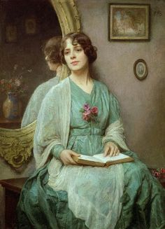 So lovely...I want to know what she is reading.... 'Reflections', by Ethel Porter Bailey