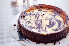 Kijk wat een lekker recept ik heb gevonden op Allerhande! Gemarmerde chocoladecheesecake