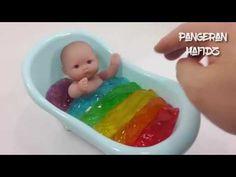 Mainan Boneka ❤ Mandiin Boneka ❤ Belajar Macam Macam Warna ❤ Play Doh Toys