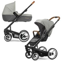 Mutsy Igo Urban Nomad Stroller, Seat and Carry Cot Bundle- Pure Storm