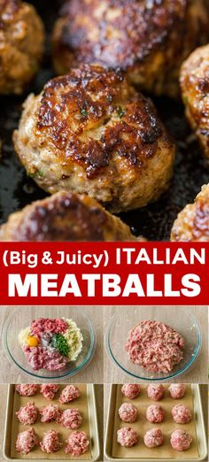 EASY Italian Meatballs Recipe Our go-to Meatball Recipe! Find out the secret to flavorful and juicy homemade meatballs. These are make-ahead, freezer-friendly, and perfect for meal prep. Meat Recipes, Dinner Recipes, Cooking Recipes, Entree Recipes, Meatloaf Recipes, Shrimp Recipes, Salmon Recipes, Crockpot Recipes, Vegetarian Recipes