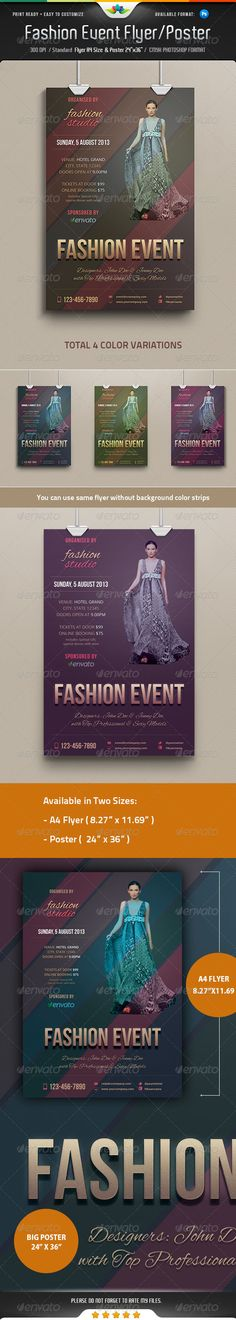 Fashion Event Flyer / Poster — Photoshop PSD #dress #organize • Available here → https://graphicriver.net/item/fashion-event-flyer-poster/5241131?ref=pxcr