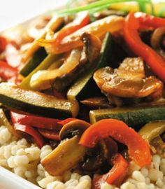 Barley With Caramelized Vegetables, a healthy side that works with everything.