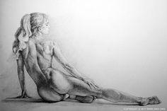 drawing nude girl reclining on her side - Sök på Google