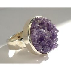 Sterling silver ring with raw amethyst (2 990 UAH) ❤ liked on Polyvore featuring jewelry, rings, amethyst jewellery, sterling silver adjustable ring, adjustable rings, amethyst rings and sterling silver jewelry