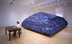 """Ann Hamilton, indigo blue 