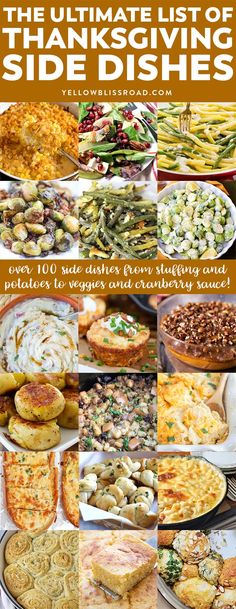 The Ultimate List of 101+ Thanksgiving Side Dishes