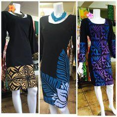 best puletasi in samoa Island Wear, Island Outfit, New Dress Pattern, Dress Patterns, Mob Dresses, Fashion Dresses, Samoan Dress, Island Style Clothing, Polynesian Designs