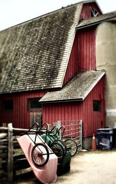 Barn & Wheelbarrows