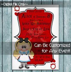 Printable Perfection | Personalized Printable Invitations | Birthday | Alice Happy Un-Birthday