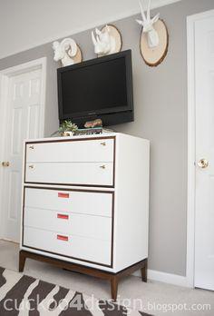 Midcentury modern dresser makeover |Cuckoo 4 Design
