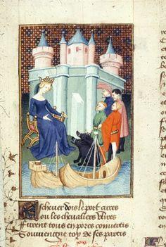 Harley 4431 fol 140 detail (Circe). Paris, France 1410-1414.