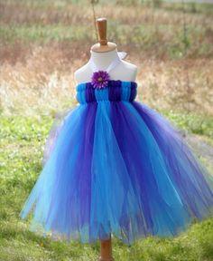 Blue & Purple tutu dress