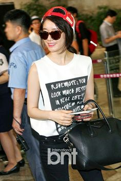 T-ara Jiyeon airport fashion