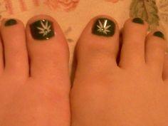 *Nail Art Design*  420 toenails