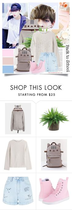 """""""#PVxPusheen"""" by lisannevicious ❤ liked on Polyvore featuring Pusheen, NDI, Helmut Lang, New Look, Dr. Martens, contestentry and PVxPusheen"""