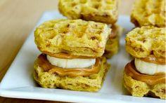 Peanut Butter & Banana Waffle Bites: It's like the sandwich, but inside waffles!