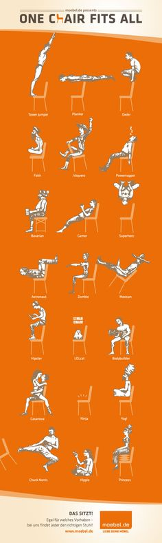 Shows that one chair may fit the needs of different iconic memes #chair #infographic pinned by @wickerparadise