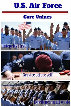 air force values Integrity first service before self excellence in all we dothese are the air force core values whoever you are and wherever you fit on the air f.