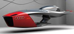 #Audi Calamaro. El concepto futurista es una mezcla de un #barco y un #jet esquí cuyo interior esta equipado con la más alta tecnología.