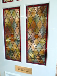 Recycled Broken Glass art - How To Make Sea Glass art - Glass art Videos Glassblowing - - - Glass art Sculpture Mixed Media Broken Glass Art, Sea Glass Art, Glass Wall Art, Painted Front Doors, Glass Front Door, Glass Doors, Stained Glass Door, Fused Glass, Victorian Front Doors