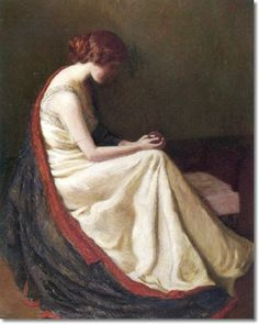 American Artist Paintings Prints by Lilla Cabot Perry - The Crystal Gazer 1913