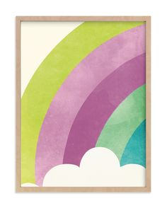 Whimsical, Colorful, Pink Limited Edition Art From Minted By Independent Artist Lori Wemple Called Bright Rainbow With Printing On In Poppy KNA. Art Wall Kids, Diy Wall Art, Home Wall Art, Art For Kids, Framed Art Prints, Wall Art Prints, Affordable Wall Art, Art Store, Color Themes