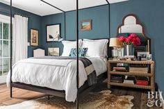 15 Soothing Paint Colors to Try Now, According to Designers — Better Homes & Gardens Green Master Bedroom, Blue Bedroom, Home Decor Bedroom, Bedroom Wall, Bedroom Ideas, Blue Green Paints, Green Paint Colors, Wall Colors, Soothing Paint Colors