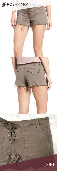 "[Blank NYC] NWT lace up shorts in taupe - Size: 28 - Condition: new with tags - Color: taupe - Pockets: yes - Closure: lace up - Style: Blank NYC taupe lace up shorts - Extra notes:  *Measurements:  Waist: 16"" flat Hips: 17.75"" flat Rise: 8.25"" Inseam: 2.5""  Bundling is fun, check out my other items! Home is smoke free. No trades, holds, modeling, or negotiations in comments. Blank NYC Shorts"