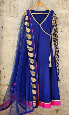 Blue kurta and dupatta