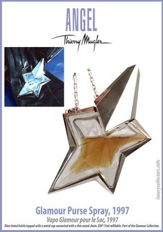 Thierry Mugler Angel Perfume Collector's Limited Edition Bottle 1997 Glamour Purse Spray