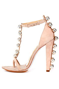 Diane von Furstenberg - Shoes - 2013 Spring-Summer Pink Heels, Pink Sandals, Shoes Heels, Shoe Boots, Suede Sandals, Heeled Sandals, Stilettos, Luxury Shoes, Von Furstenberg