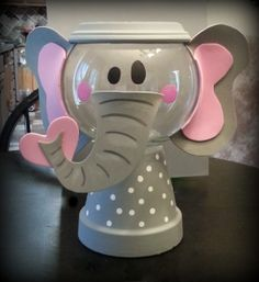 This is an elephant gumball machine I painted and made for my son's teacher gift :) Check out more at www.facebook.com/kollarskreations