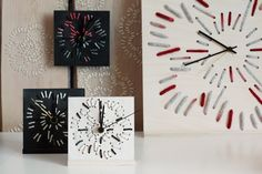 """Wall and desk clock """"EMBROIDERED TIME"""" has recorded meaningful moments into material. It is an eye-catching yet practical accessory. Clock, Desk Clock, Decor, Wall, Wall Clock, Home Decor"""