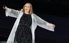 Adele in a raincoat at Arena di Verona May 29, 2016