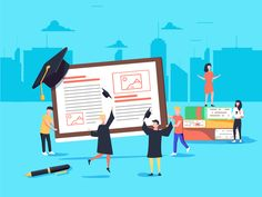 Flat design style web banner for online learning, education apps, ebooks online training courses and tutorials. App Design, Flat Design, Design Ideas, Apps For Teachers, Online Training Courses, Ebooks Online, Mobile Application Development, Infographic Templates, Web Banner