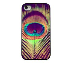 Iphone case - Peacock iphone 4 and 4s case - unique - trendy - colorful - macro - peacock iphone cover - water drop - peacock feather. $19.95, via Etsy.