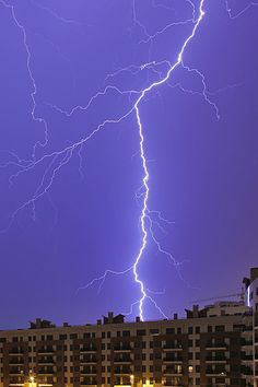 Lightning Storm In Lisbon, Portugal