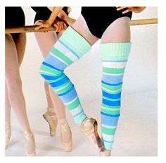 FOUR Teal Tomato /& Black Leg Warmers 4 Leg Warmer Gift Set Ivory