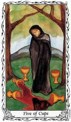 Free Daily Tarotscope -- Jul 14, 2015 -- Five of Cups -- It's not so easy to focus on what you have when you're busy thinking about what you lack. This is especially true today as Venus and Saturn move into hard aspect, making the potential for seeing the glass as half full stronger than ever. (more)....