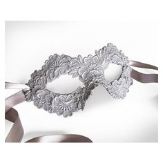 Silver Lace Mask For Costume Party, Wedding, Prom, Mardi Gras ❤ liked on Polyvore featuring costumes, white party costumes, silver halloween costume, masquerade halloween costumes, white costume and masquerade ball halloween costumes