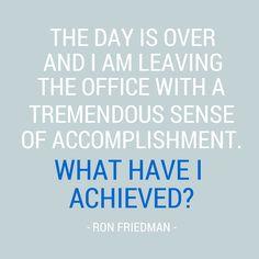 achievement quote robert friedman