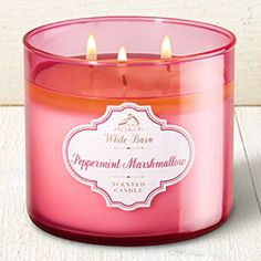 Peppermint Marshmallow 3-Wick Candle - Home Fragrance 1037181 - Bath & Body Works